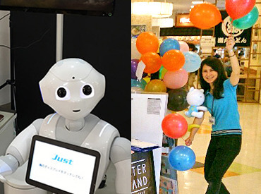 【イベントStaff】ロボット君は子ども達からも大人気★『さわってお話してみてね~♪』未経験OK!楽しくイベントを盛り上げよう(ノ・ω・)ノ゙★