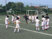 生徒さんたちと一緒に楽しくサッカーをしませんか? プロを目指している子も在籍する、活気と熱意溢れるサッカー教室です!