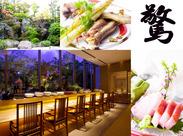 オシャレな日本料理とお蕎麦のお店♪ 駅チカの好立地で、近郊の学生さんやフリーターさんも通いやすい◎