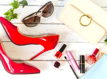 【シューズの販売STAFF】赤ソールで有名なシューズブランド*黒スーツを着て、カッコよくお仕事しませんか?エレガントで上品なデザインが人気★+。