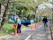 閑静な公園などの現場がメイン!現場は豊島、板橋、杉並、葛飾、北区…etc 23区内多数揃えてます!好きな現場選べます♪