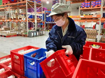スーパーでお馴染み!雪印メグミルクのお仕事で安定勤務できますよ◎広い倉庫で安心して気持ちよく働けます♪