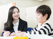 学生の方が多数活躍中☆ 教えていて困った時も、 周りの講師に聞けるので、 未経験の方も安心して 働くことが出来ます♪