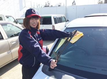 【接客スタッフ】『運転免許も持っていないけどできるかな…?』>>>そんな未経験スタートのスタッフも活躍中♪お仕事は丁寧にお教えします!!!
