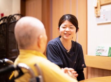介護職は全員インカムを装着しており、情報共有はバッチリ!