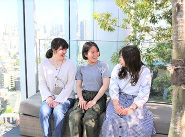 屋上スカイテラスつき! 渋谷のオシャレオフィス♪ 撮影中も笑いが絶えず、雰囲気◎ 一緒に働けるのを楽しみにしています★