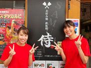 """飲食店でのお仕事が初めてでもOK! お仕事しながら""""お好み焼き 侍""""の 味と経営ノウハウが学べます♪.:。+゚"""