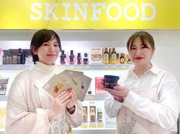 SHOPでは商品知識、お肌の知識など接客になるので 一から美容スキル・知識が学べます! 美容に敏感な方にピッタリのお仕事★