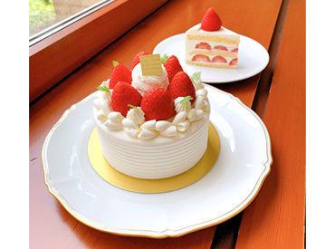 \こんなスイーツも作れちゃいます◎/ 素材の美味しさをいかし、旬の素材を使ったケーキを提供しています♪