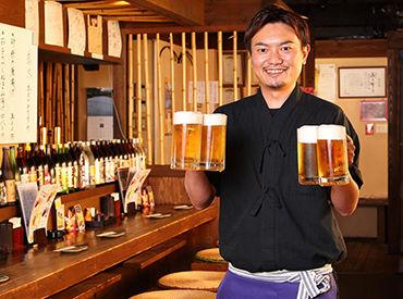 【居酒屋スタッフ】<東証・大証一部上場企業>業界トップクラスの優遇された社員独立制度あり!100の加盟店でOBオーナーが活躍中★