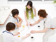皆でサポートし合って働けるので、初めてでも安心♪ まずは研修で丁寧にお教えします!何でも相談してください◎ ※イメージ画像