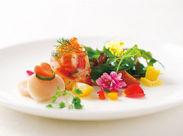 味、見た目共に一流の、旬の食材を使ったこだわりの料理です★ 一緒においしい時間をお客様にご提供しましょう!