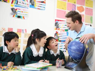 【 託児施設利用OK♪ 】 子育て中の方にもやさしい◎+.* 保育とインターの講師の連携で、休暇も取りやすい環境です!