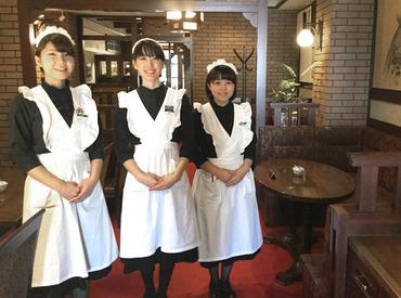 【CafeStaff】≪バイトデビュー大歓迎≫週2/3h~♪人気のカフェバイト、始めようっ♪♪高級感あるアンティークでレトロな空間でオシゴト♪