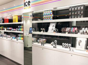 【販売Staff】知名度が高い時計や雑貨を多数販売!!!お客様も当社のブランドに興味がある方が多く、ご案内や販売をしやすいお店です。