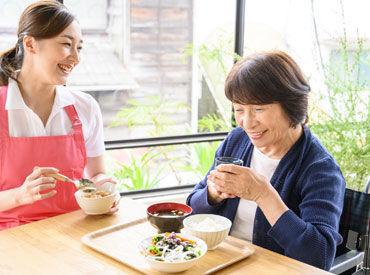 ◆おもてなしの心 ◆人の想いを汲み取ること ◆みんなを笑顔にしたい気持ち 共通点が多い「飲食」と「介護」♪ ※画像はイメージ