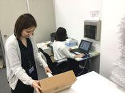 事務業務は倉庫内で 検品・納品準備・在庫管理作業も行います!
