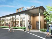 ★レア★KFCの新業態が昨年11月にOPEN!! 開放感&ナチュラル感のあるオシャレ店舗でスタイリッシュに働こう♪