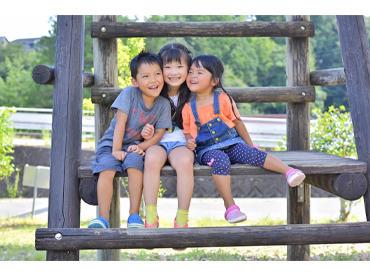 子ども達のパワーに圧倒されることもありますが、充実感◎ 園児のどんな表情も可愛く、毎回驚きと学びの連続! ※写真はイメージ