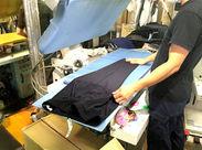 簡単なアイロン掛け、機械を使ってのワイシャツ仕上げで簡単!!初心者さんでもご安心くださいね。