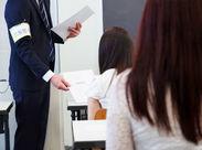 試験がスムーズに終わるように、試験時間の管理や、解答用紙の配布/回収などをお願いします♪