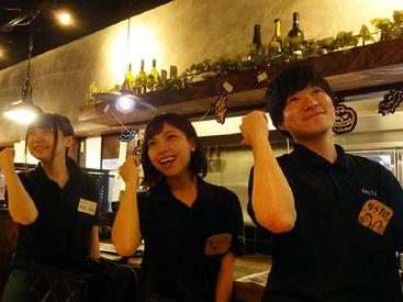 笑顔あふれる店内で働こう★先輩スタッフが優しくフォローします♪女子会やデートにも人気のオシャレDining☆