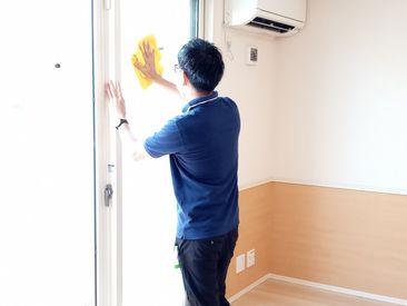 \お仕事内容は簡単★/ 基本的には社員さんのサポートをお願いします◎ 家庭の掃除の延長線で難しい事は一切ありません♪