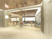 作業するスペースは開放的でゆったり♪ 会議やミーティングなどもばっちり◎ あなたも事務スタッフとして活躍しませんか☆