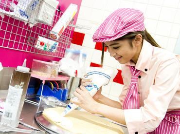 【クレープ販売Staff】甘い生地の香りと鮮やかなフルーツの彩り♪+*゚★クレープの焼き方や巻き方、丁寧に教えます★未経験の方も安心START◎