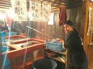 ≪店内には生簀(いけす)が!?≫ 新鮮な魚介をご提供★専用の網があるからとっても簡単◎慣れると楽しいとスタッフに評判☆