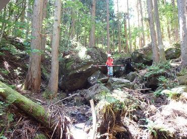 自然の中で働ける★ 「最近ストレスたまってるな…」⇒そんな気持ちも、山や川などの自然に触れてリフレッシュ♪