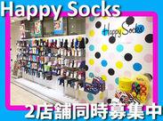 《Happy Socks》 ・ルクアイーレ店 ・藤井大丸店  2店舗同時募集中!