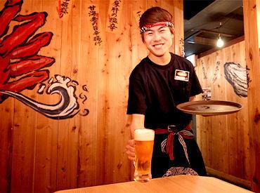 磯の香りと活気溢れる楽しい空間で、豪快に魚料理とお酒が楽しめるお店『目利きの銀次』豪快に魚介類を楽しんで頂けます。