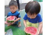 子どもたちの食べる姿を見て メニュー作りの参考にすることも◎ 【スタッフ特典】 一時保育の割引ありで働きやすい♪