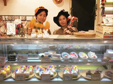"""【ケーキ屋さんSTAFF】""""スタッフに負担をかけない!""""がお店のモットー♪学業や部活等との両立応援!!笑顔溢れるケーキ屋さんではじめませんか?"""