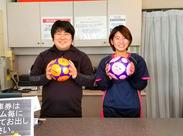 学生・フリーターさん大歓迎!お友達との応募もOKです! サッカー好きな仲間や、スポーツ観戦仲間ができるカモ★