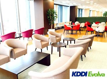 【渡辺通駅直結】キレイなオフィス! まるでCafeみたいな空間*:・゜ 緑もあり、眺めも最高! リラックスしながら働けますよ♪