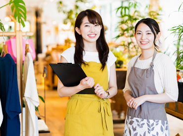\20~30代向けの雑貨店/ オシャレでシンプルな商品がいっぱい♪ あなたらしく働ける環境です! ※写真はイメージです。