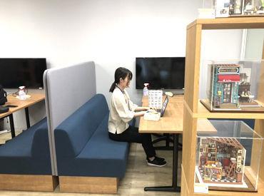 こちらは本社オフィスの写真です!パレットプラザの可愛らしい商品に囲まれながらのお仕事♪ PC操作に慣れている方優遇!