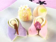 シーズン限定の和洋菓子も多数あり◎ 商品の種類は少しずつ覚えていきましょう♪