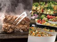☆肉食なアナタに…☆ 主役のステーキをはじめ、パスタ、カレー、スイーツなど種類豊富なメニュー♪お店の味をまかないで◎