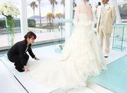 憧れのブライダルスタッフ☆*゜花嫁さんの最高の1日をサポートします!とってもやりがいを感じます♪