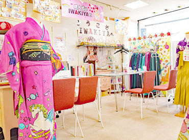 着物やオシャレが好きな方、大歓迎!! 写真共有SNSでも雰囲気のチェック可能 『iwakiya1』のアカウント名で更新中です◎