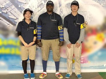 ↑とある施設で巡回中のSTAFF★ 国際色豊かな楽しいメンバー多数! 語学力を活かしたい方にもオススメですよ♪