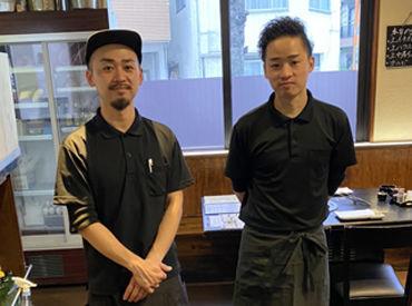 現在活躍中の男性スタッフです☆地元のお客さんが多く、アットホームな雰囲気のお店でアナタも働いてみませんか◎