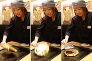 しっかり教えてもらえるから、お好み焼きの焼き方もバッチリ身につきます♪ 華麗な技をお家でも披露しちゃおう!