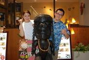 雰囲気バツグン☆ 南国ハワイにいるようなレストランです♪