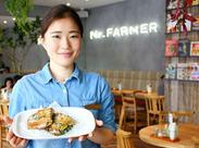 野菜の伝道師「渡邉明」が選んだ野菜を、ふんだんに使った人気カフェ♪まかないもあるので、働きながらキレイになれるかも?