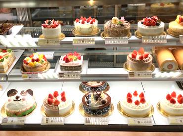 【ケーキ・お菓子販売】見てるだけでわくわく*キラキラ☆彡和菓子・洋菓子・アイスなど♪★週1~扶養内・WワークもOK土日祝入れる方歓迎♪