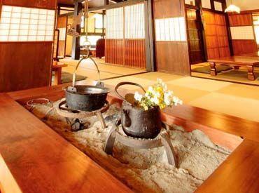自然薯が持つ野趣あふれる独特の味覚をお届け♪ 200年前の古民家を移築した店内は、落ち着く「和」のテイストで観光客にも人気*